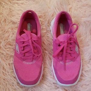 Skechers pink go walk sneakers 7